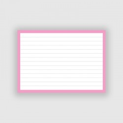 50 Flashcards A6 Roze