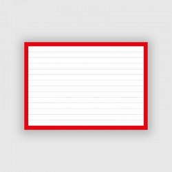 50 Flashcards A6 Rood