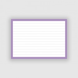 50 Flashcards A6 Lila