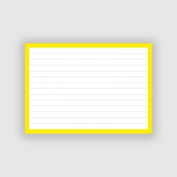 50 Flashcards A6 Geel