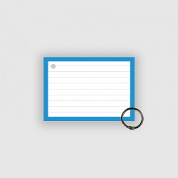 50 Flashcards A7 Blauw Perforatie incl. klikring