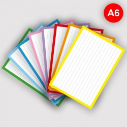 500 Flashcards A6 Combi pakket 8 kleuren