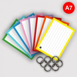 Flashcards A7 perforatie met 8 klikringen