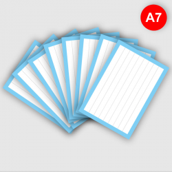Flashcards A7 Lichtblauw
