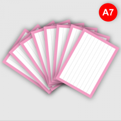 500 Flashcards A7 Roze