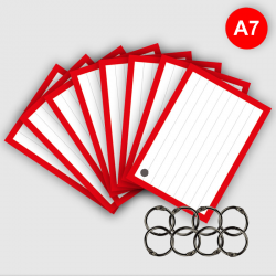 500 Flashcards A7 Rood met...