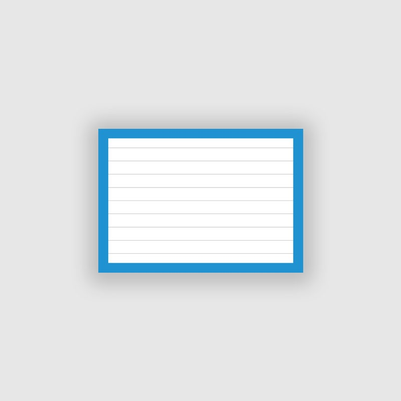 50 Flashcards A7 Blauw