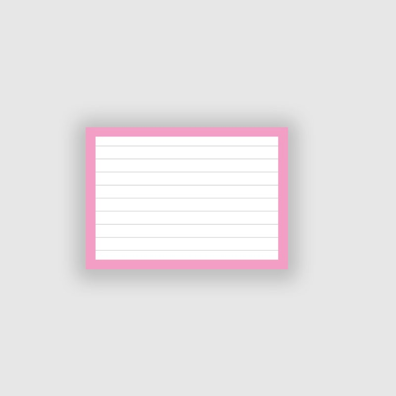 50 Flashcards A7 Roze